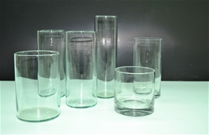 Assorted Glass Vases, Approx 10cm - 25cm