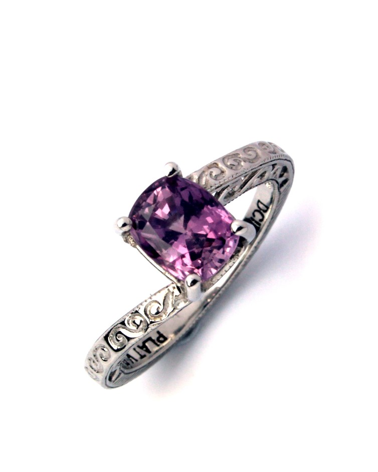 1.84ct Pink Sapphire Engagement Ring