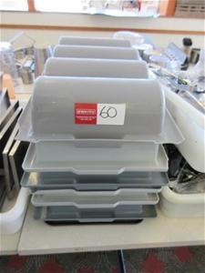 7 x Plastic Cutlery Trays