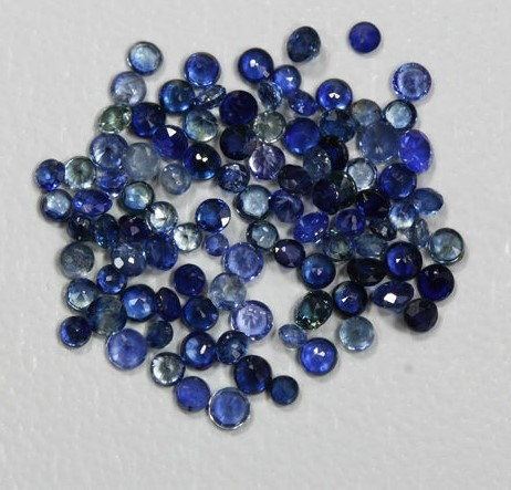 6.09cts 100pcs Blue Ceylon Round Sapphires