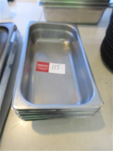 11 x Rectangle Stainless Steel Trays