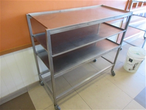 1 x 3 Tier Stainless Steel Shelving on C