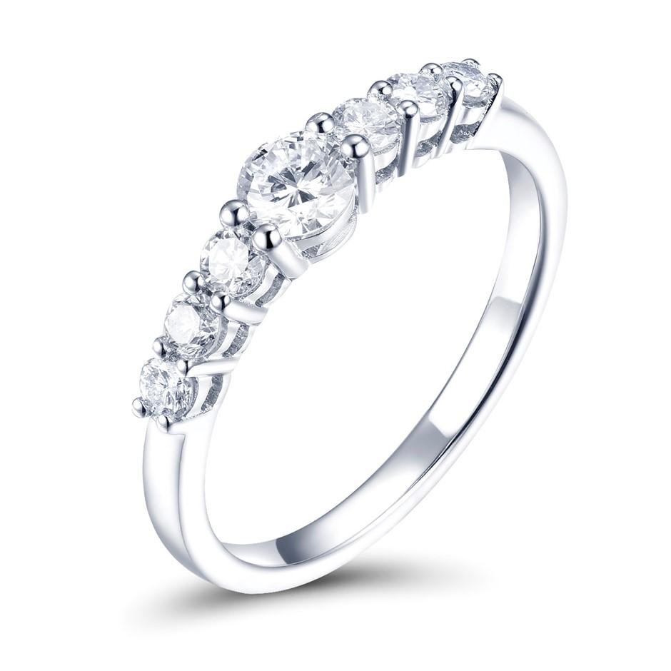 18ct White Gold, 0.55ct Diamond Ring