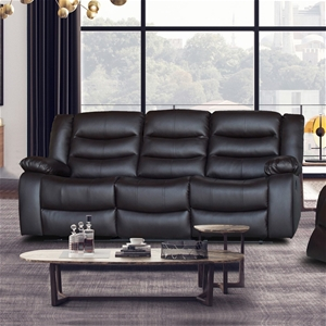 3 Seater Recliner Sofa In Faux Leather L