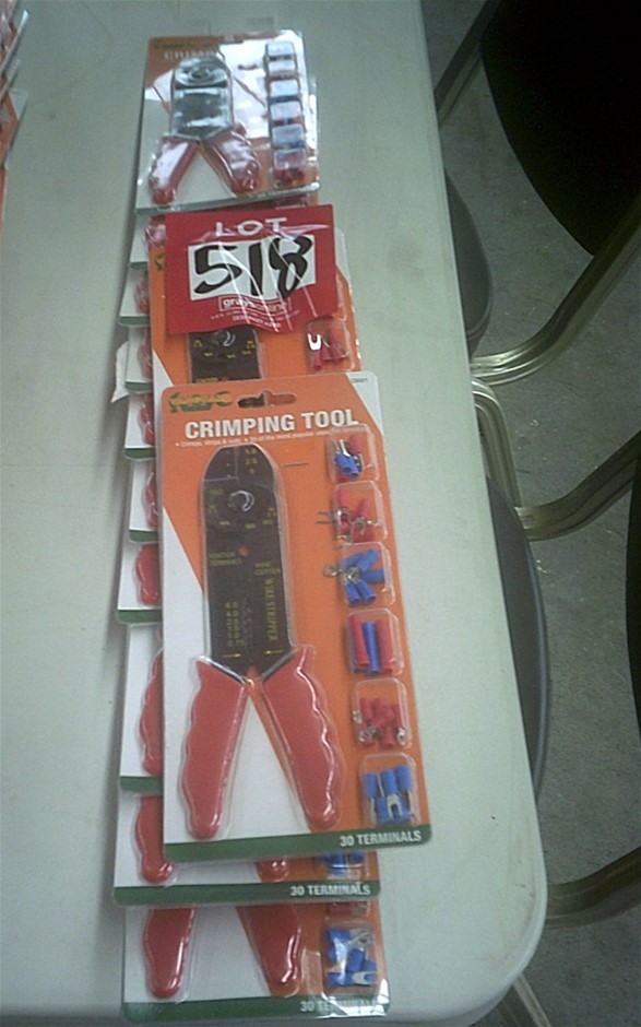 12 units of Vanguard Crimping Tool Sets. New in packaging