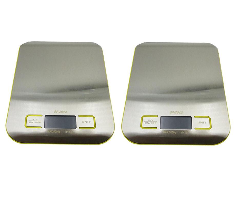 SOGA 2X 5kg/1g Kitchen Food Postal Scale Digital Jewelry Weight Scale