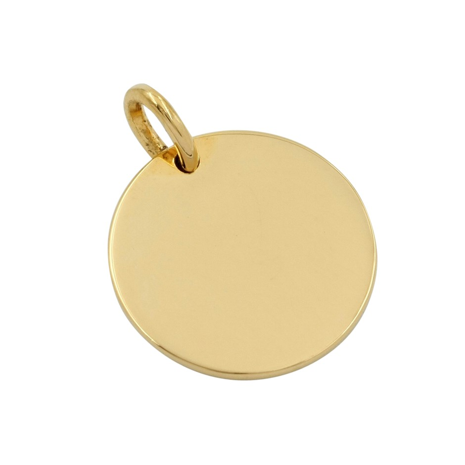Thomas Sabo Yellow Gold Engravable Plain Love Heart Pendant