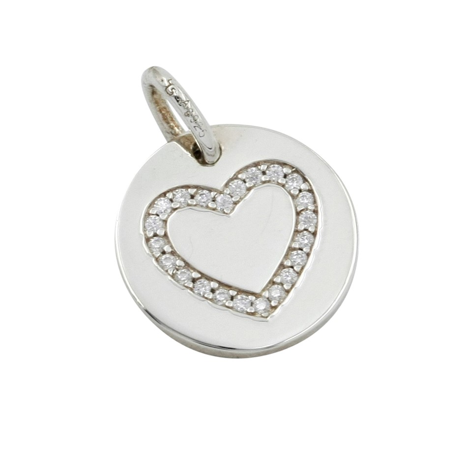 Thomas Sabo Sterling Silver Engravable Heart Coin Pendant.