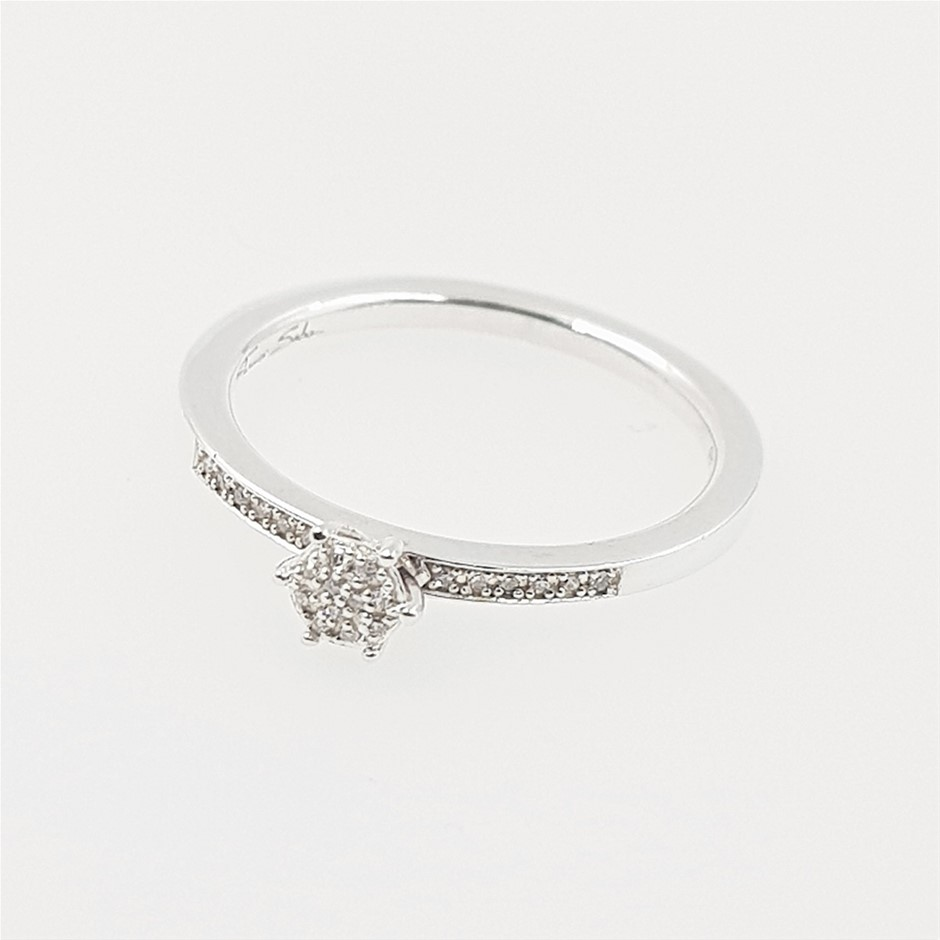 Thomas Sabo Faceted Pave Diamond Ring.