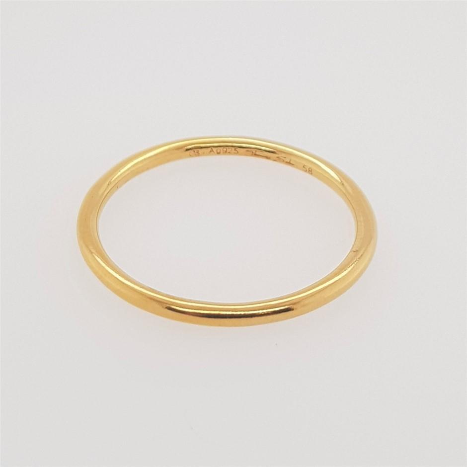 Thomas Sabo Yellow Gold Plated Slim Band Ring.