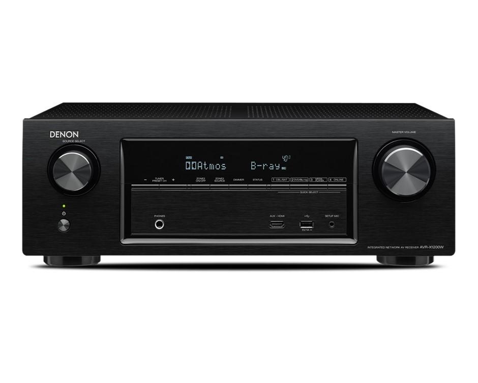 Denon AVR-X1200W 7.2 Channel Full 4K UHD, Atmos AV Receiver (Black)
