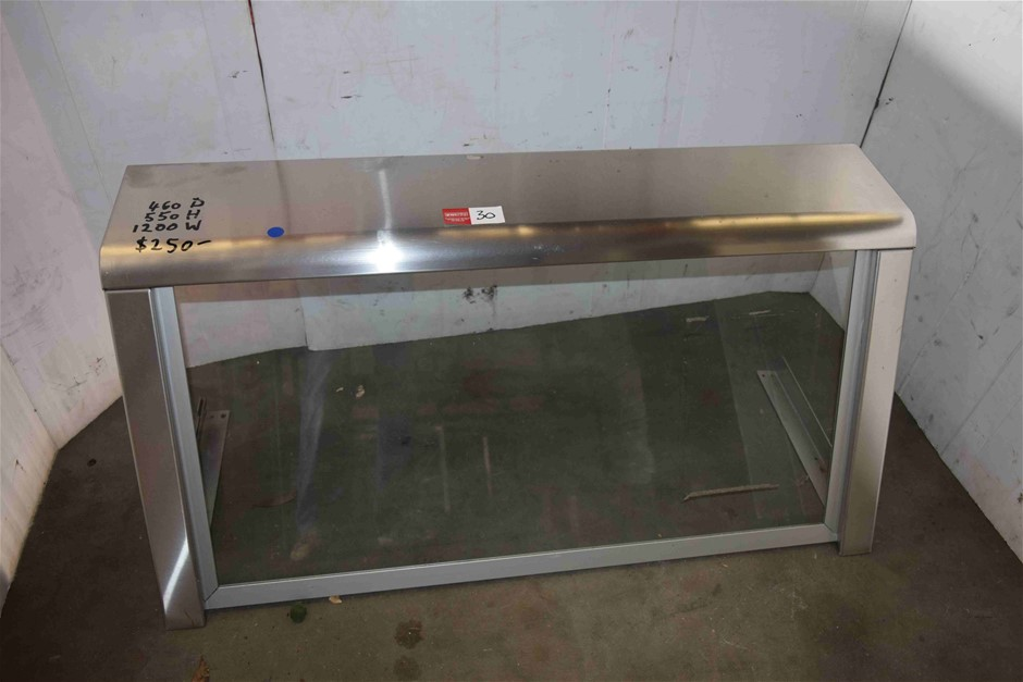 Brushed Stainless Steel Food Canopy