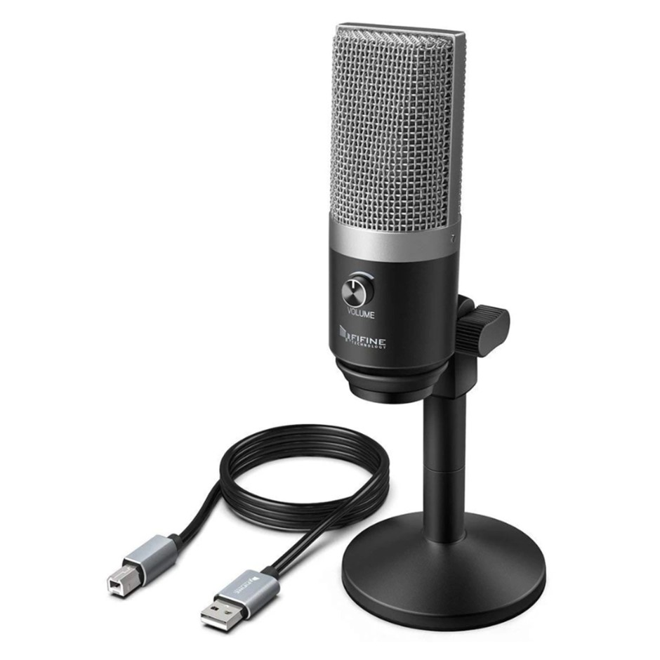 Fifine Technology USB Condenser Microphone - Silver