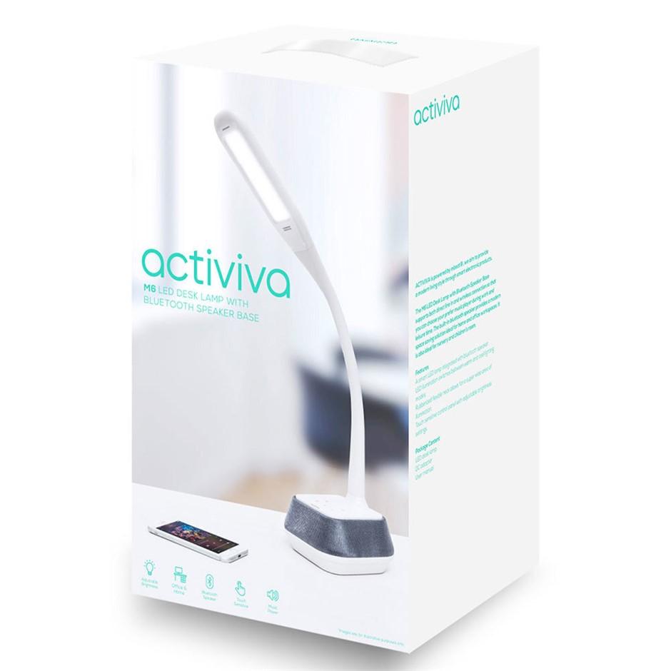 Activiva LED Desk Lamp w/ Bluetooth Speaker Base