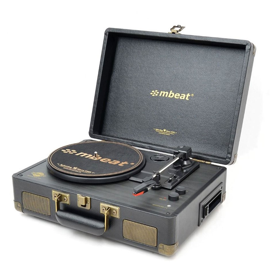 Mbeat Uptown Retro 2-in-1 Turntable Player