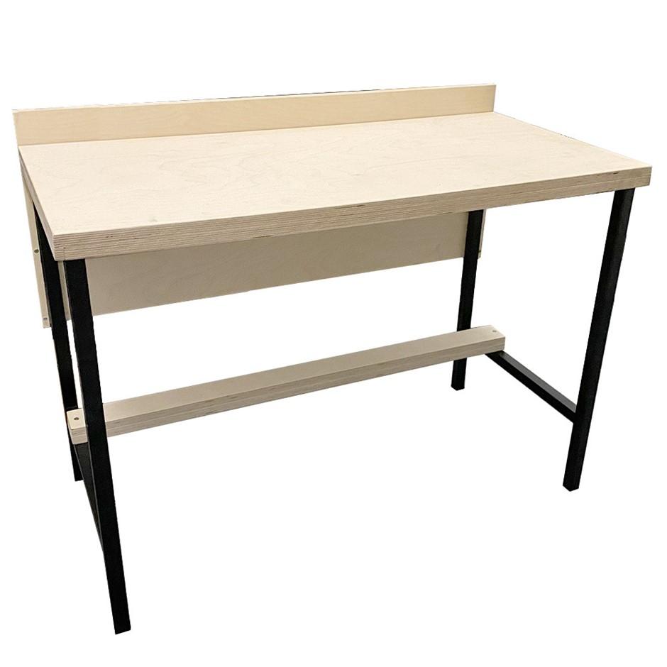 Nook & North Wooden Desk w/ Metal legs