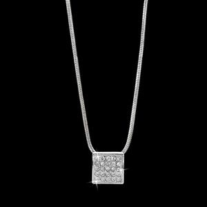 Square Pave Pendant Featuring 25 Crystal