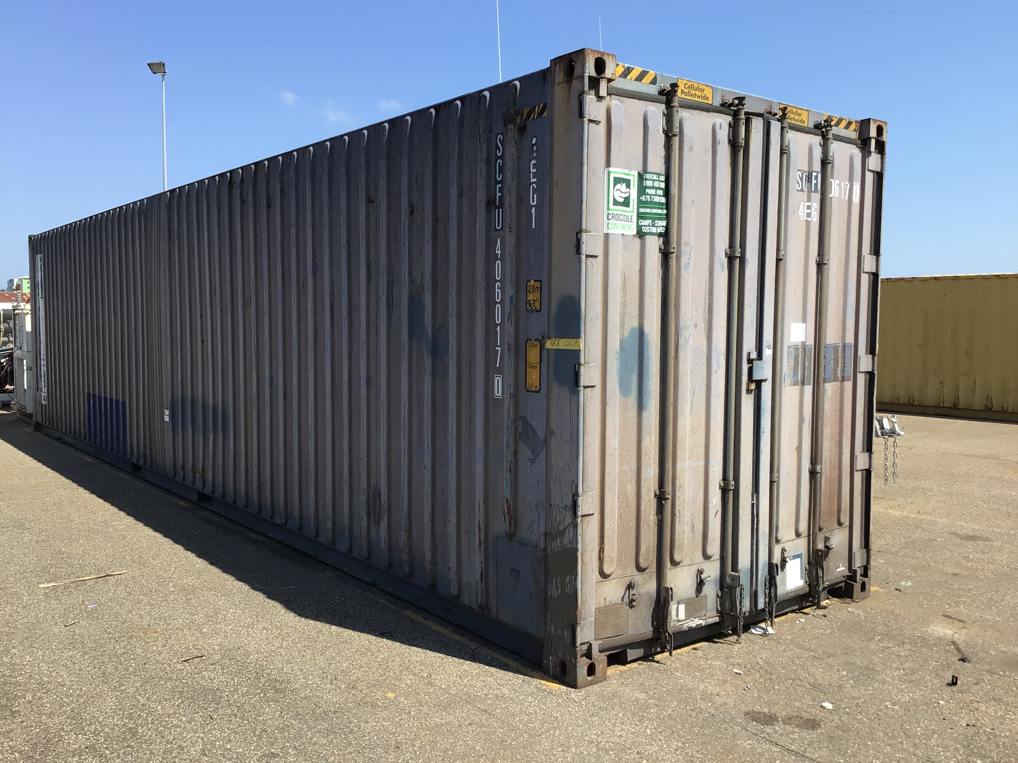 40ft high cube shipping container & contents