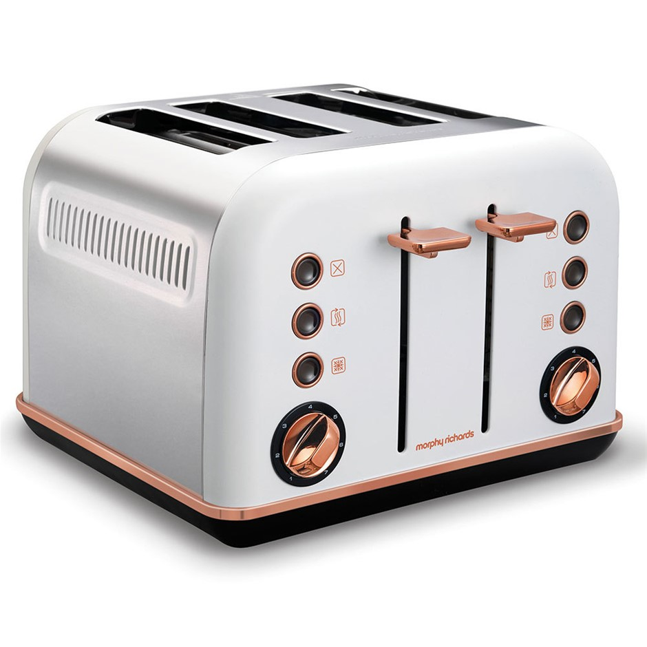 Morphy Richards 242108 White Accents 4 Slice Toaster