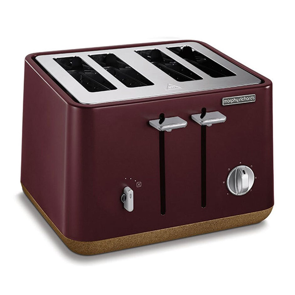 Morphy Richards Aspect Cork 4 Slice Toaster - Maroon