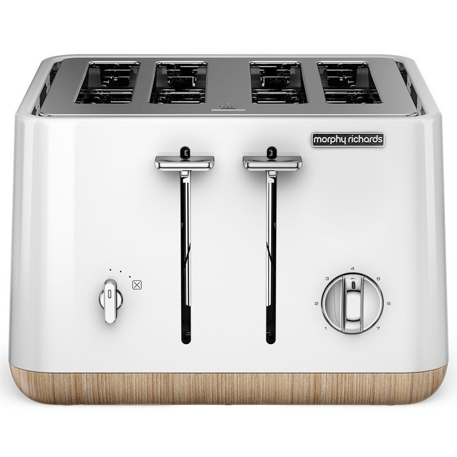Morphy Richards Scandi White Aspect 4 Slice Toaster