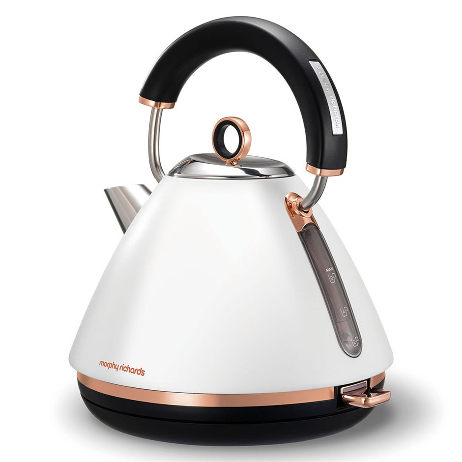 Morphy Richards 1.5L White Accents Pyramid Kettle