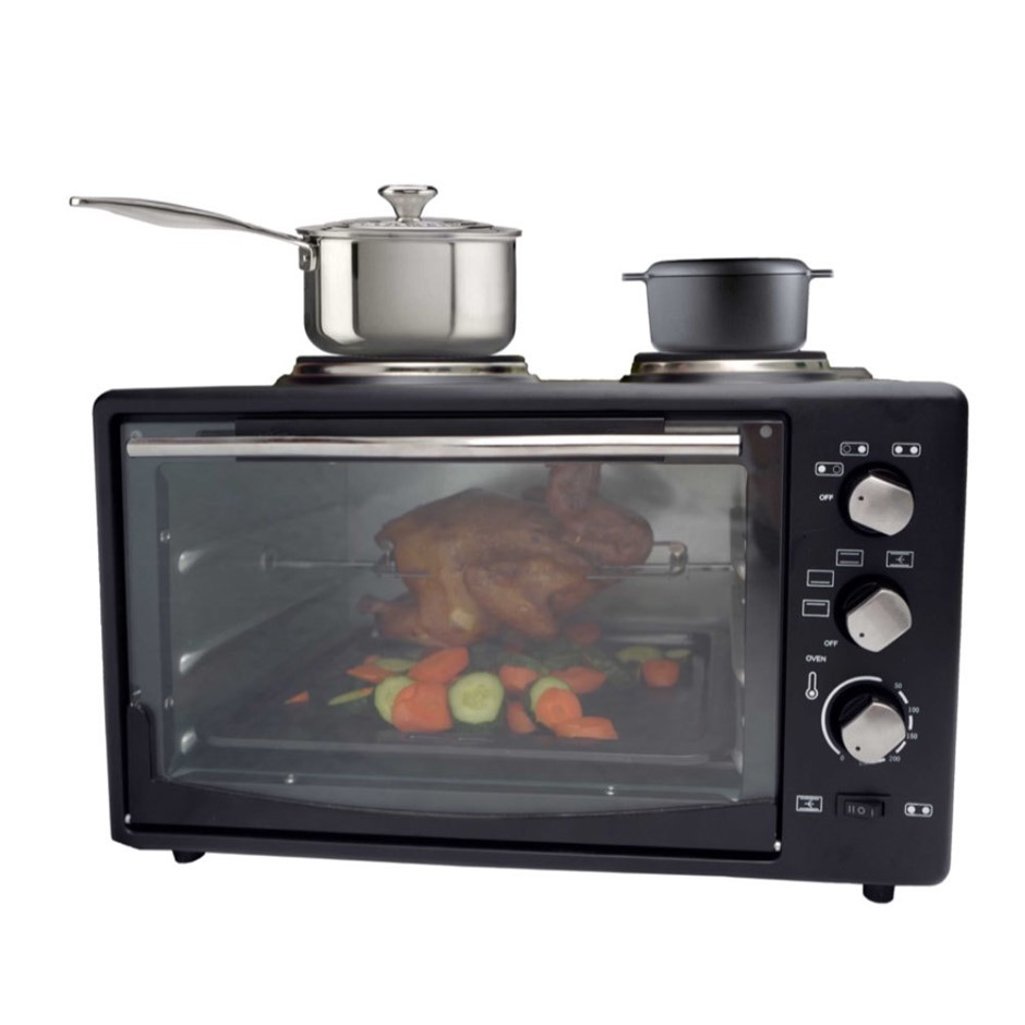 Healthy Choice 34L Portable Oven with Rotisserie