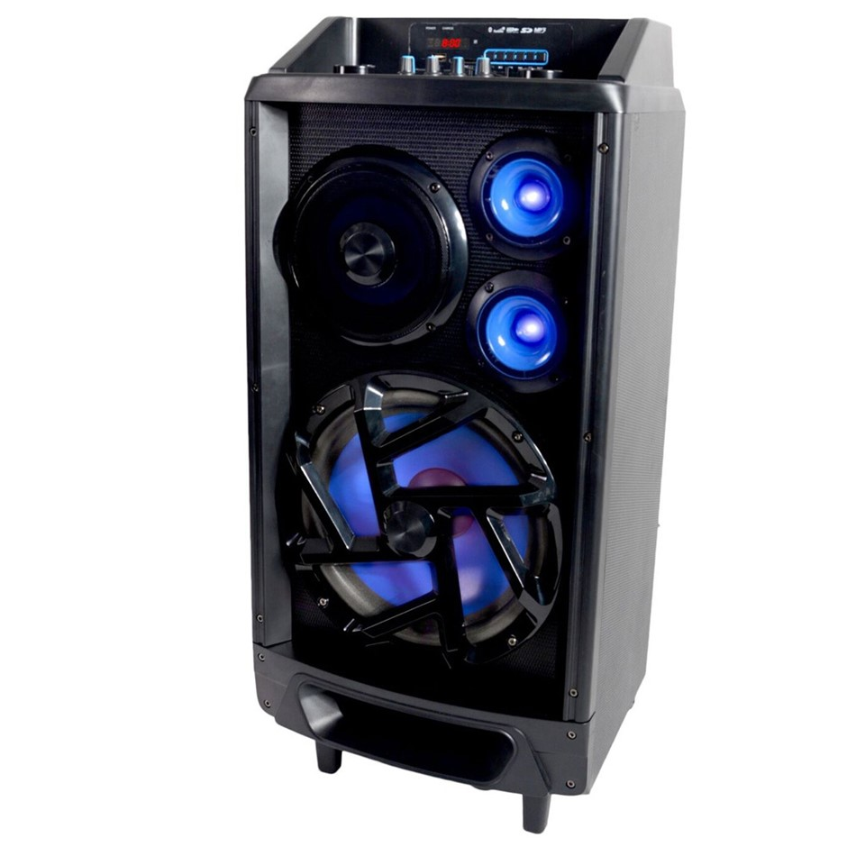 Portable Bluetooth Speaker PA System/Amplifier/Input For Guitar Mic/Battery