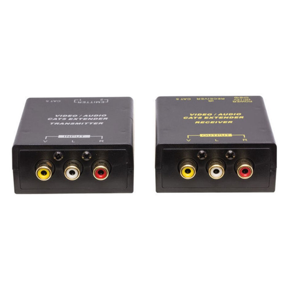 Pro2 Composite Rca Video/Audio Cat5 Extender with IR Extender Kit