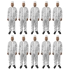 10pc Protective Dust/Paint Size S Polyester Overall/Coverall Suit