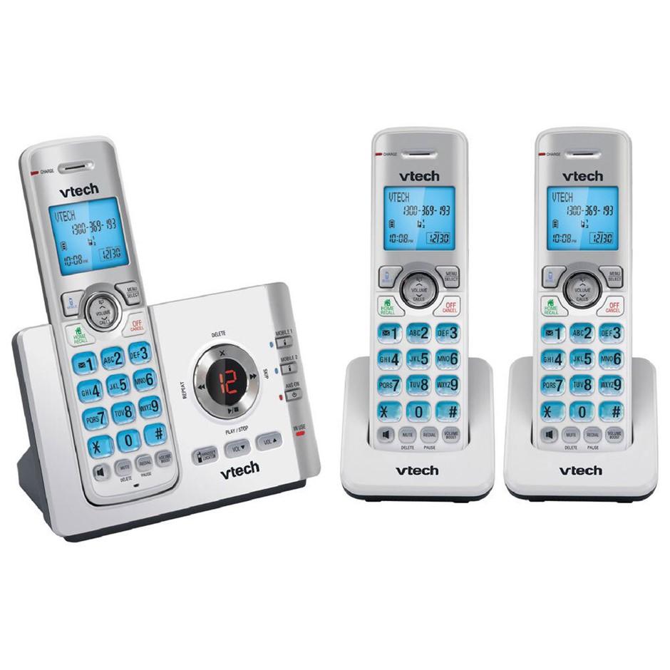 Vtech 17550 Triple Handset Dect6.0 Cordless Phone w/ MobileConnect