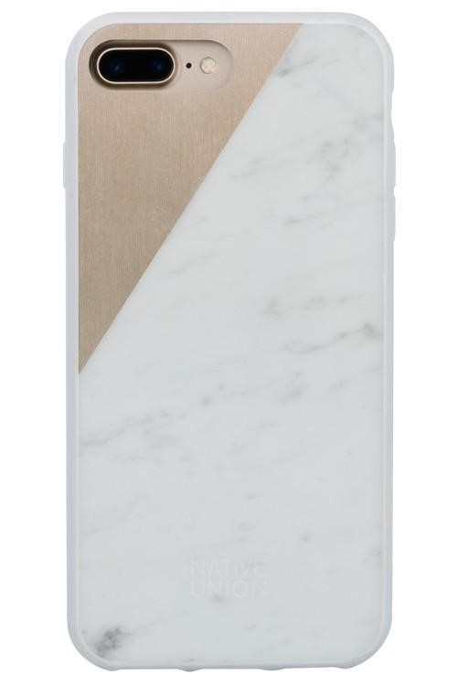 Native Union Clic Marble Metal Case for iPhone 7+ (White/Gold)
