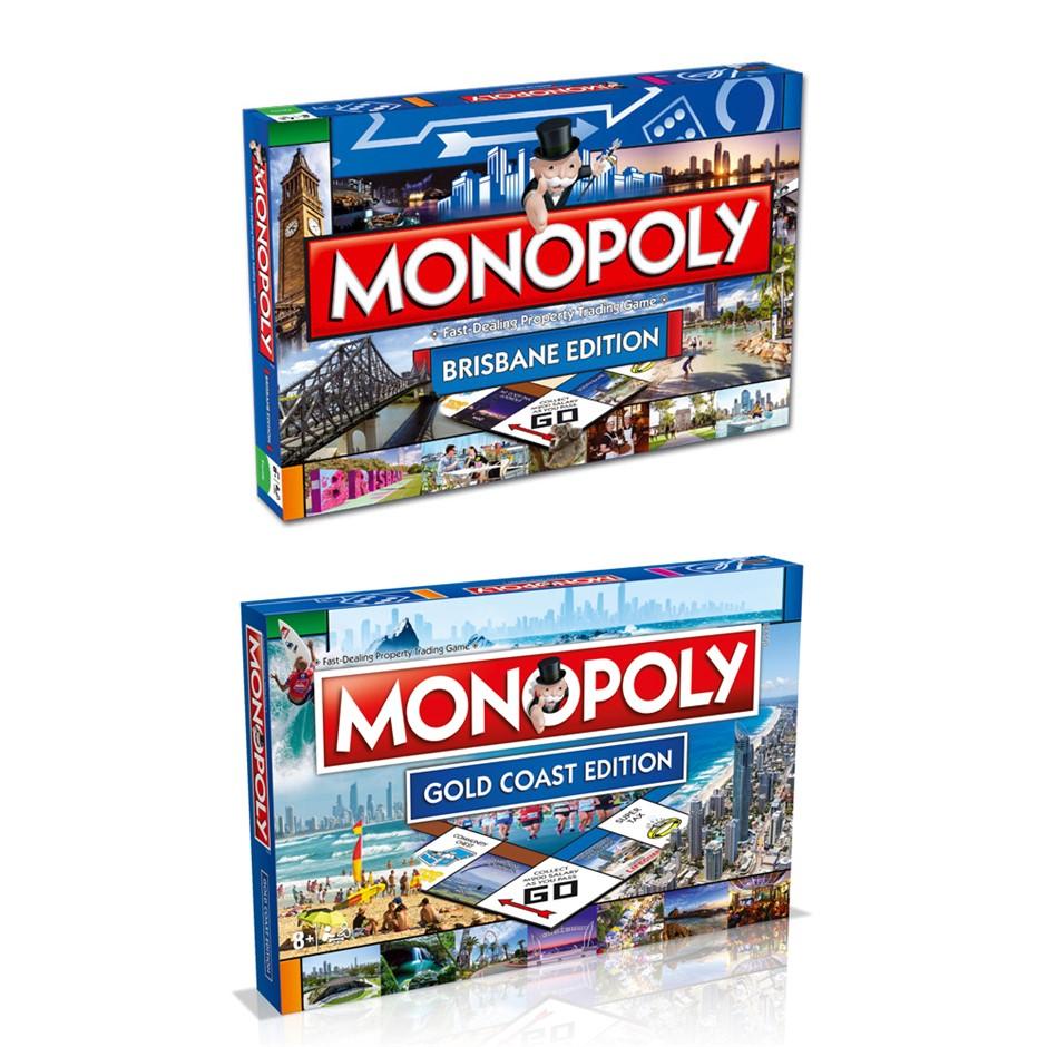 2PK Monopoly Board Game Gold Coast & Brisbane Edition