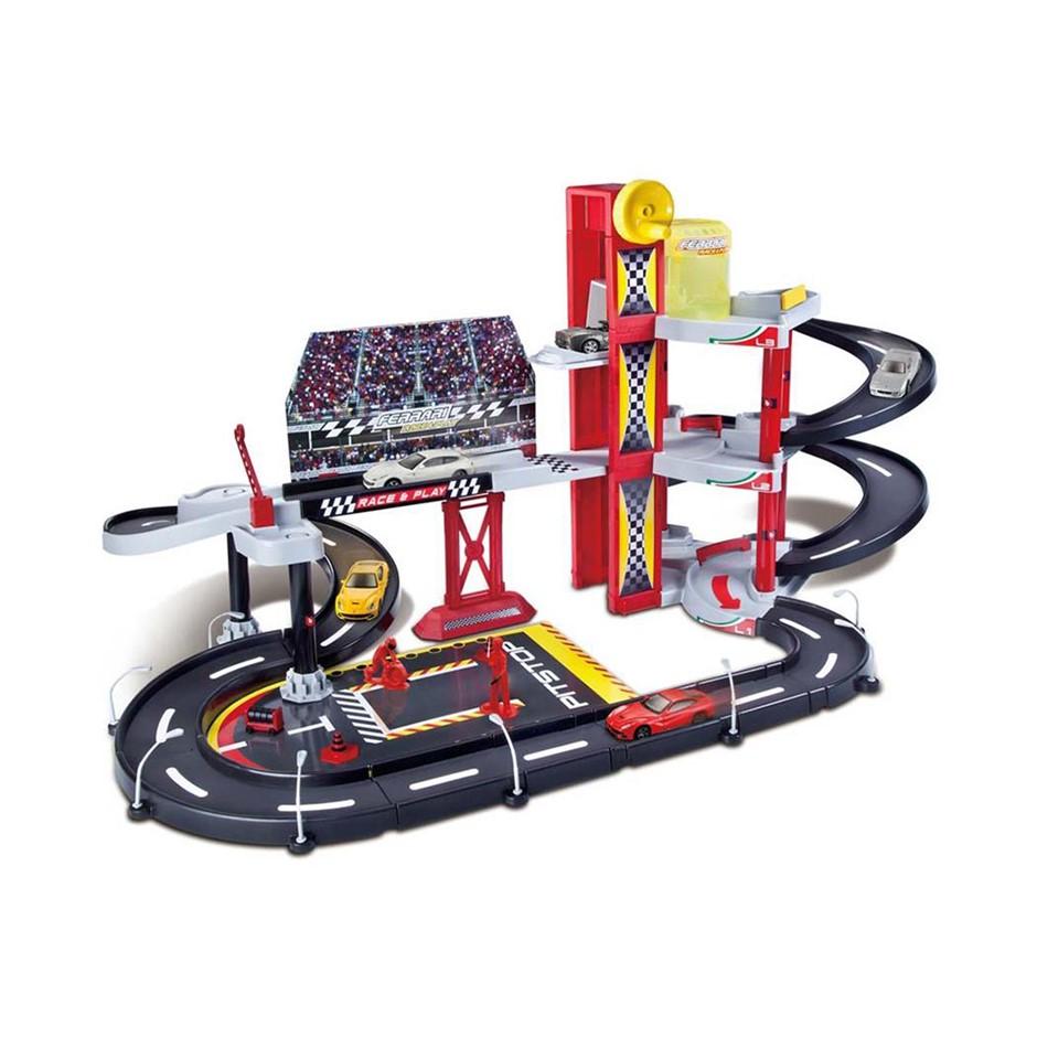 Bburago 1:43 Ferrari R&P Racing Garage Set