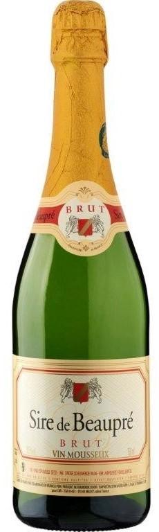 AOC Sire de Beaupre Vin Mousseux Blanc Brut NV (6x 750mL)