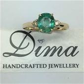 Dima Handcrafted 18 Karat Emerald Collection
