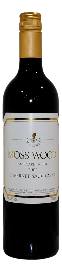 Moss Wood Cabernet Sauvignon 2002 (6x 750mL)