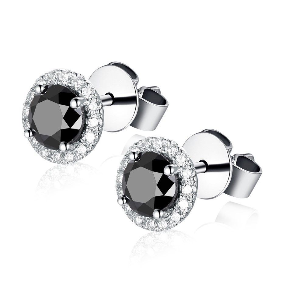 18ct White Gold, 2.23ct AIG Diamond Earring