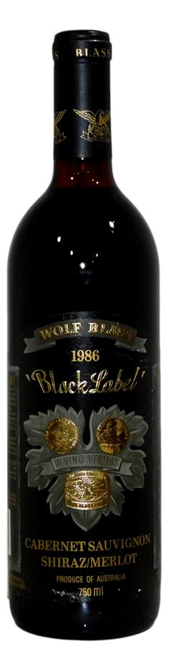Wolf Blass Black Label Cabernet Shiraz Merlot 1986 (1x 750mL)