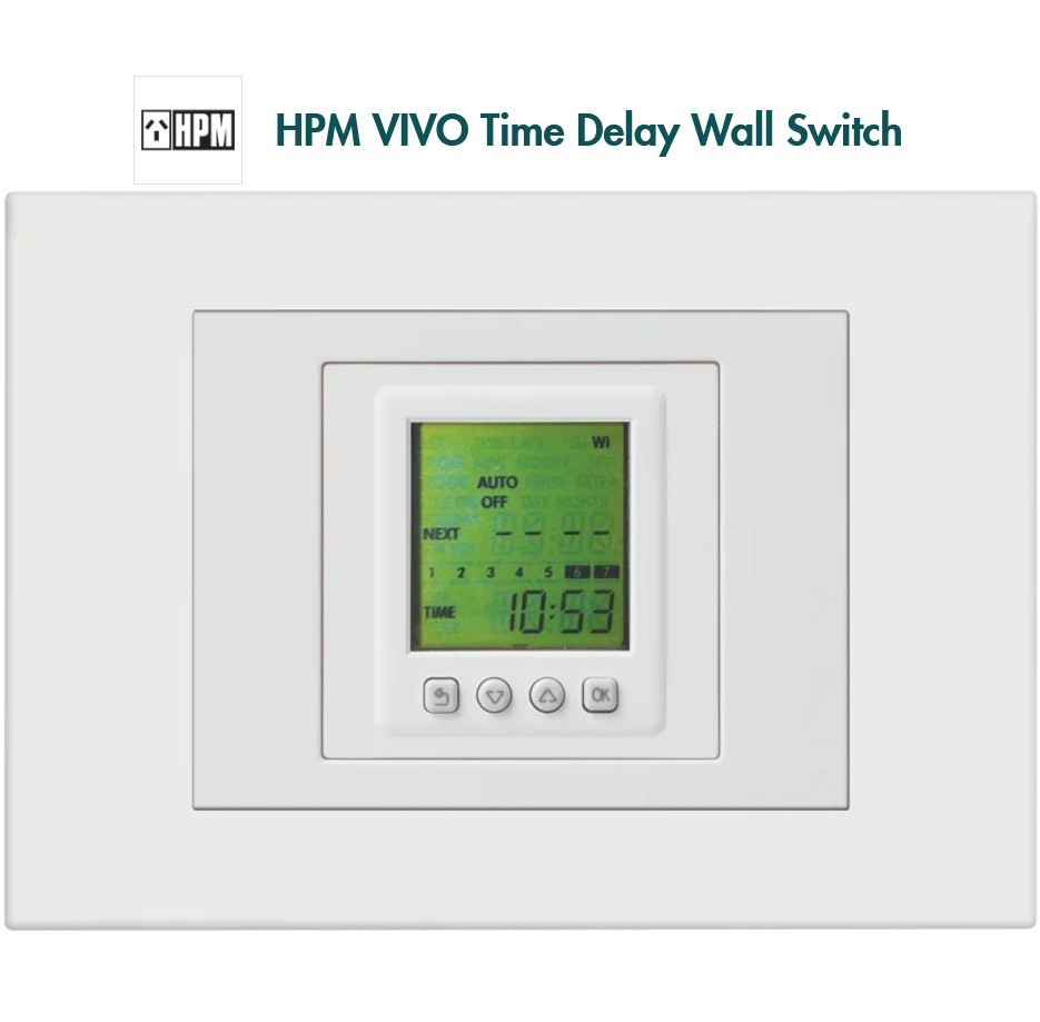HPM VIVO Time Delay Wall Switch -Up to 8 weekly programmes