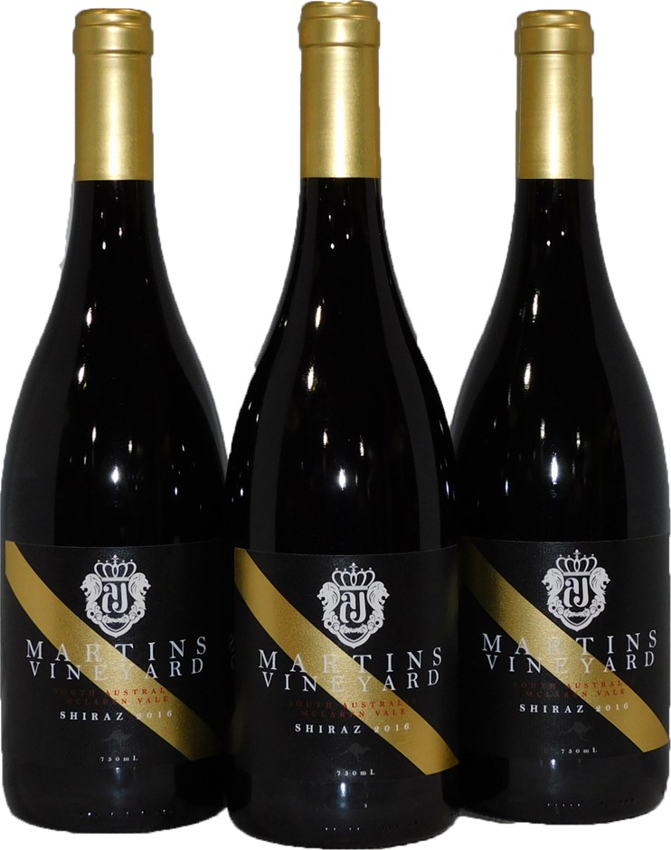 Martins Vineyard Ltd Ed. McLaren Vale Shiraz 2016 (3x 750mL), SA