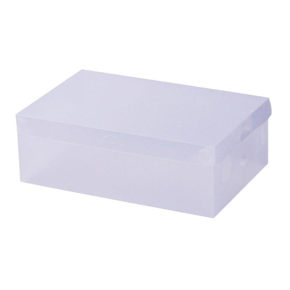 40pcs Clear Shoe Storage Box Transparent Foldable Stackable Boxes Organize