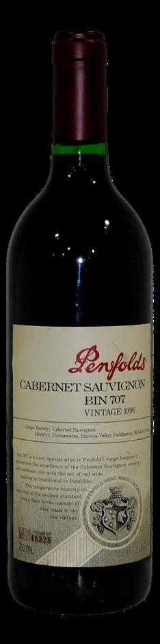 Penfolds Bin 707 Cabernet Sauvignon 1996 (1x 750mL, #46325), SA