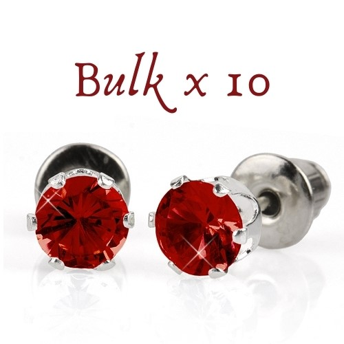 BULK PACK - 10 x 5mm Birthstone Earrings (July) - Great, Christmas Idea