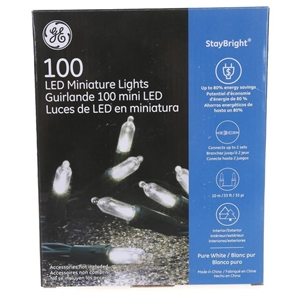 GE 100 String LED Miniature Lights, 10M