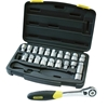 STANLEY 21 Piece ThruDrive Wrench Set, 3/8`` + 1/2`` Square Drive Socket Ad