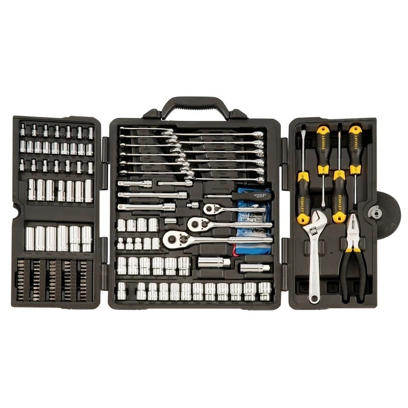 STANLEY 176 Piece Tool Kit With Carry Case, 1/4, 3/8 And 1/2 Drive, MaxDriv