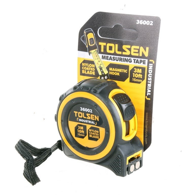 6 x TOLSEN 3M Measuring Tapes, with 25mm Metal Combo Tape & Lock. Buyers No