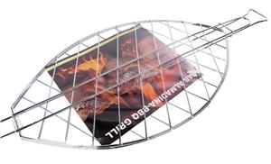 2 x Large BBQ Fish Grill, 63cm x 35cm. B