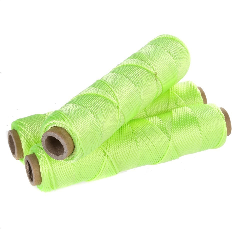 6 Reels x Multi-Purpose Twine 90g Gross Weight, Fluor Lime. Buyers Note - D